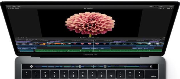 Final Cut Pro sur un nouveau MacBookPro. Cliquer pour agrandir