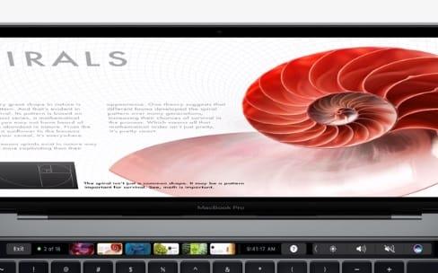 Pages, Numbers, Keynote et GarageBand ont une touche avec la Touch Bar