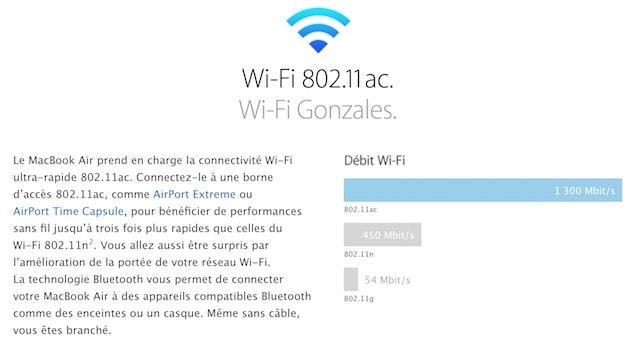 C'est étonnant: quand Apple proposait encore les meilleurs débits en Wi-Fi, elle ne manquait pas de s'en vanter sur son site… Cliquer pour agrandir