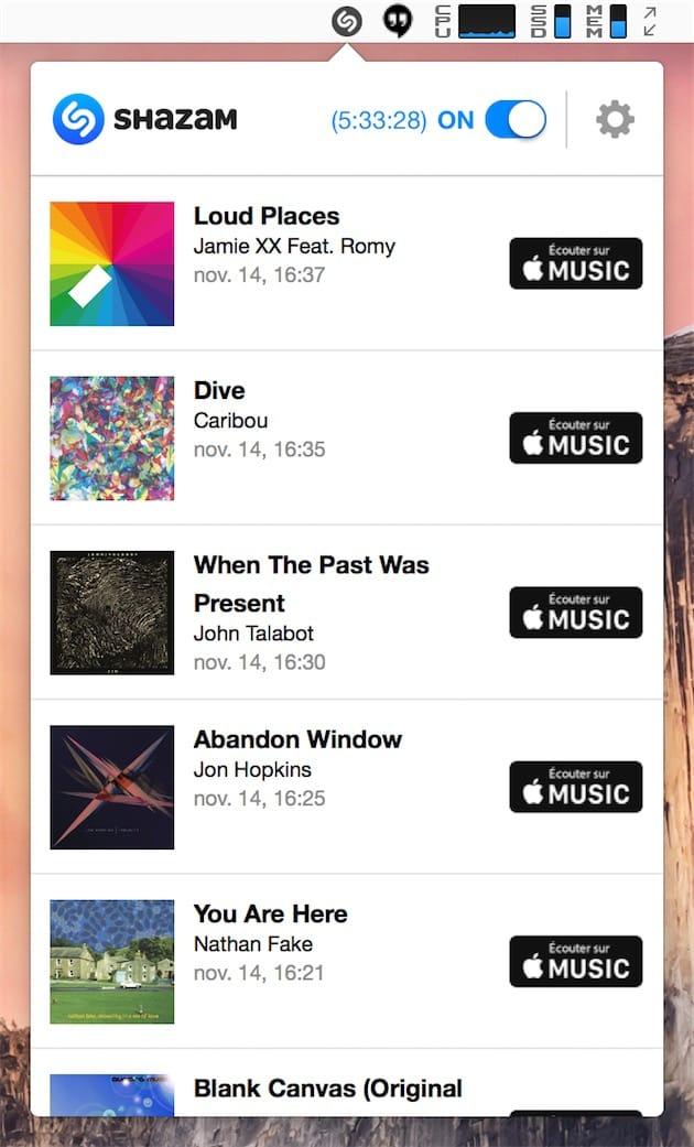 macOS : les très indiscrètes oreilles de Shazam
