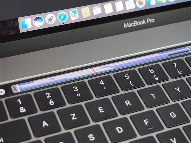 La Touch Bar dans Final Cut Pro. Cliquer pour agrandir