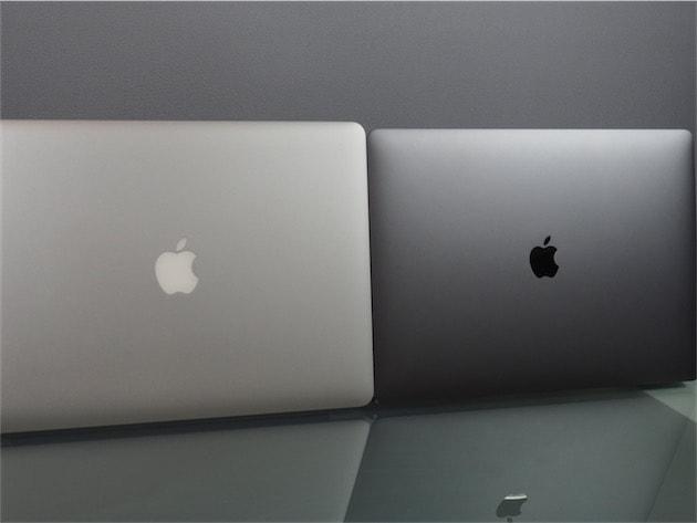 La pomme au dos ne s'éclaire plus et reste très sombre sur ce modèle gris sidéral. Cliquer pour agrandir