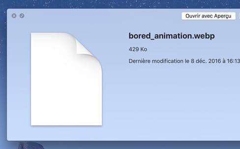 WebP : un petit tour et puis s'en va de macOS Sierra
