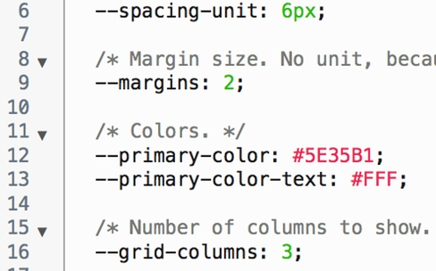 Les variables CSS prises en charge par la bêta de Chrome
