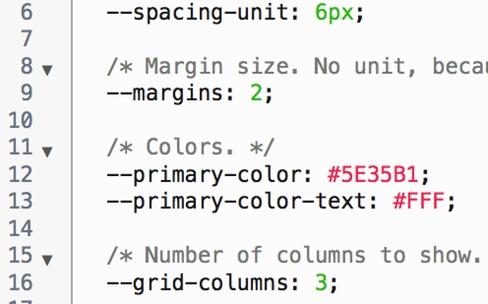 Les variables CSS prises en charge par la bêta de Chrome