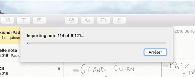 On peut importer toutes ses notes Evernote dans Note… mais c'est un petit peu long.