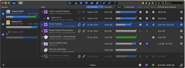 Final Cut Library Manager3 en action — Cliquer pour agrandir