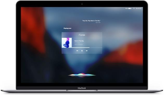 On peut probablement imaginer une meilleure utilisation de l'espace que sur ce concept, mais intégrer Siri à OS X ne devrait pas être impossible…