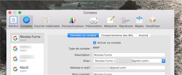 Les comptes Gmail sont toujours pris en charge avec IMAP. Il serait peut-être temps d'adopter l'API fournie par Google, beaucoup plus complète et rapide…