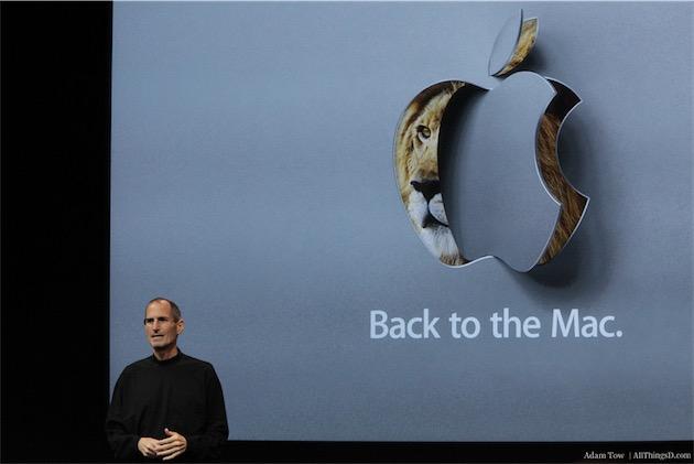 Steve Jobs, lors de la présentation d'OS X 10.7.