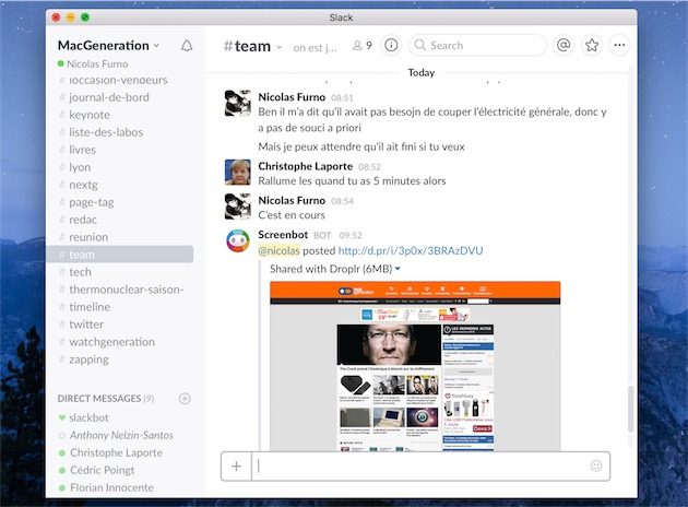 Screenbot peut envoyer des captures d'écran que l'on peut ensuite annoter ou, comme ici, des captures complètes de pages web. Le tout grâce à quelques commandes très simples.