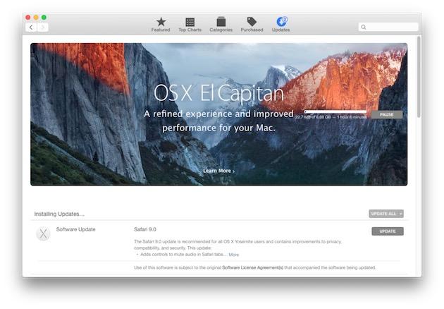 Apple met le paquet dans le Mac App Store quand un nouveau système sort. Mais l'utilisateur n'est certainement pas obligé de l'installer immédiatement pour autant. Au passage, ce n'est pas forcément très connu, mais on peut masquer la mise à jour en utilisant un clic secondaire.