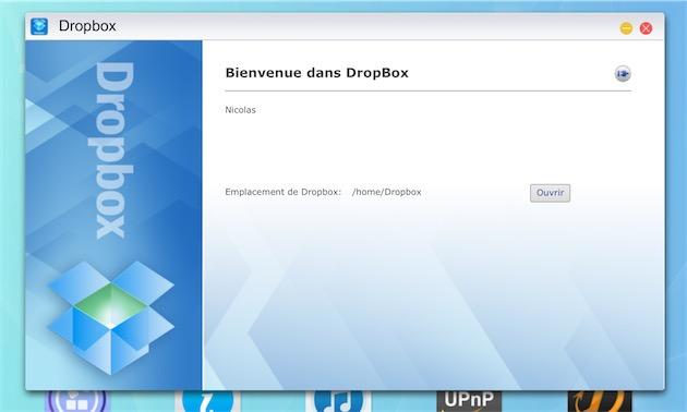 On peut relier sa Dropbox au NAS et ainsi bénéficier d'une sauvegarde supplémentaire des données les plus essentielles.