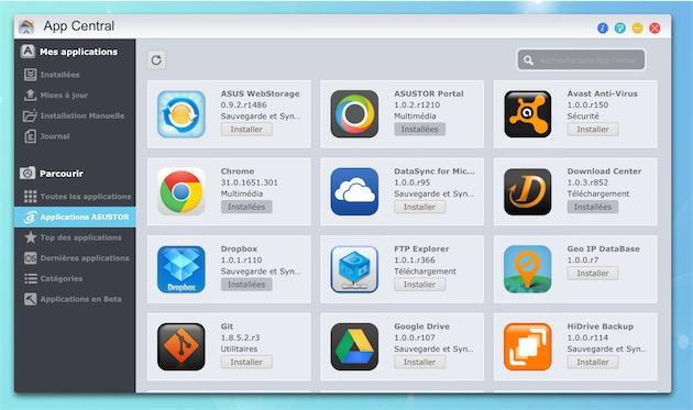 L'App Central d'Asustor