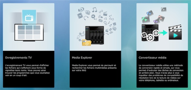 Écran d'accueil de «LooksGood», l'application d'Asustor pour lire des vidéos, mais aussi les convertir à l'avance.