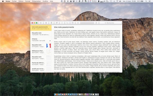Notes sur un MacBook Pro Retina15pouces et les réglages par défaut. C'est encore pire quand on augmente la définition. — Cliquer pour agrandir