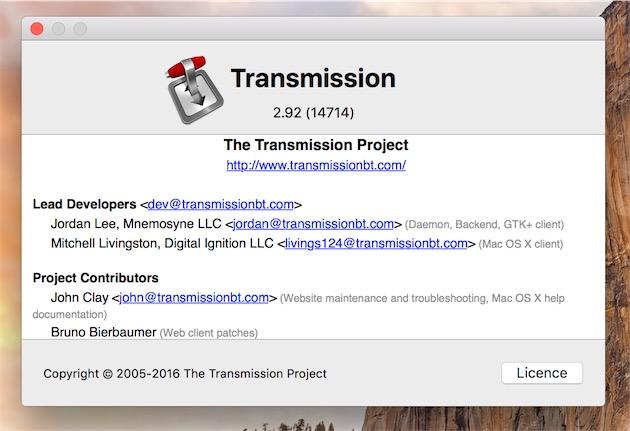 Si vous utilisez Transmission, vérifiez bien que vous êtes à jour. La dernière version est la 2.92.