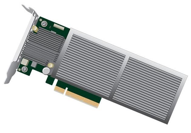 Ce modèle d'entrée de gamme fonctionne sur PCIe 8 lignes seulement, mais il ne va pas au-delà de 6,3Go/s.