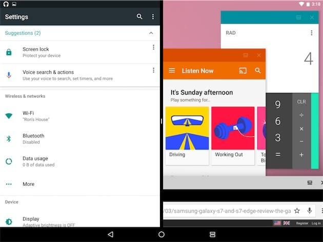Android n cache un syst me d 39 exploitation de bureau for Multi fenetre android