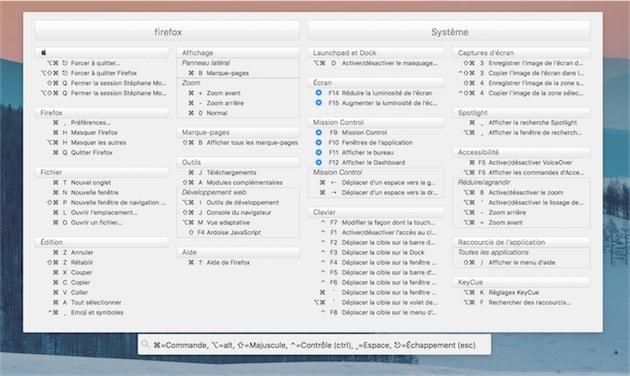 Keycue 8 0 affiche les raccourcis clavier sa guise for Raccourci clavier changer de fenetre