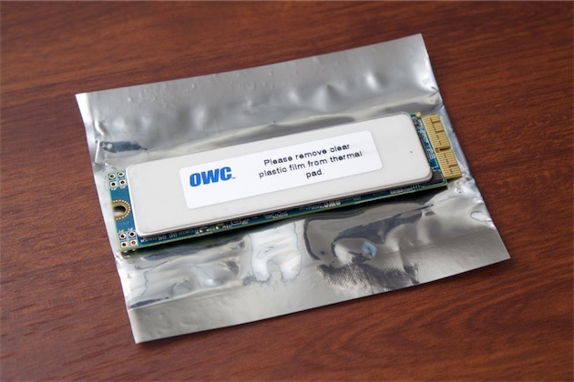 La barrette SSD compatible vendue par OWC.