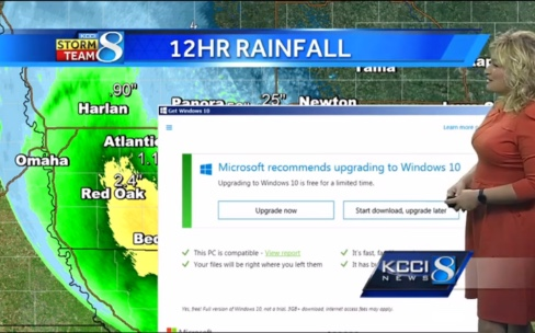 Une mise à jour de Windows interrompt la météo à la TV