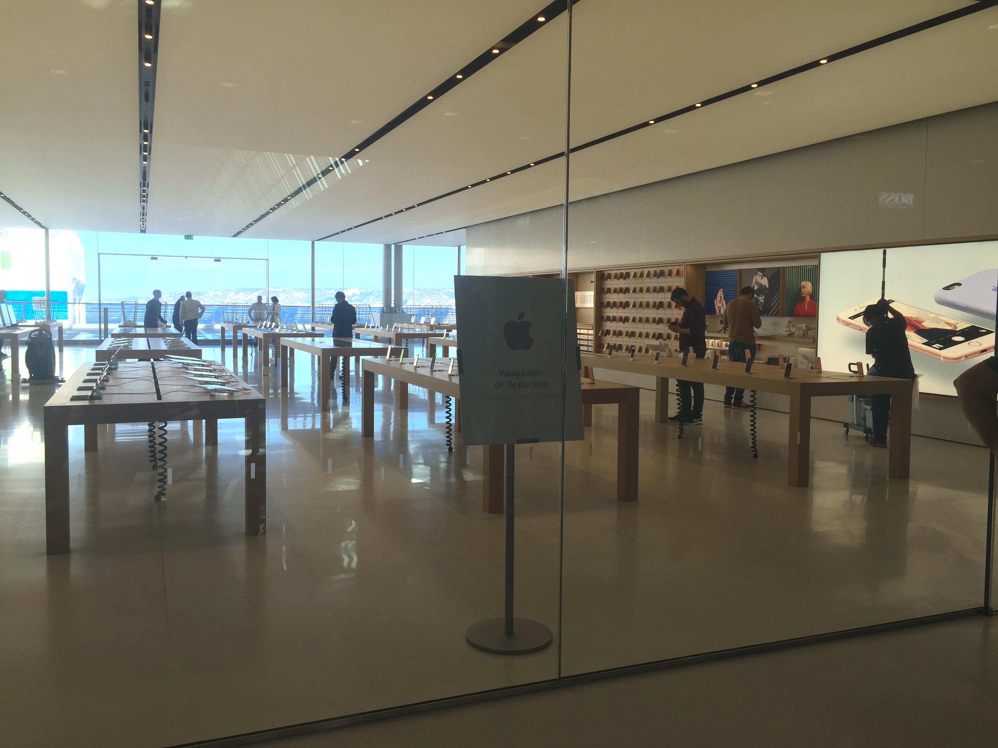 L 39 apple store de marseille est ouvert macgeneration - Apple store marseille terrasse du port ...