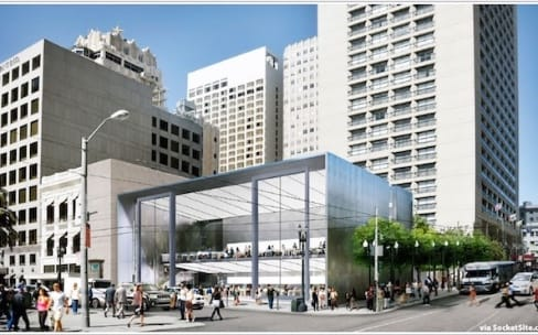 Apple inaugure en grande pompe le nouvel Apple Store de San Francisco
