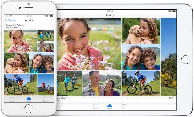 Le partage de photo en famille chez Apple ? Un album commun.