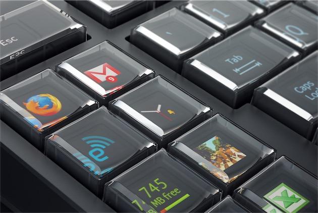 Clavier avec un écran OLED derrière chaque touche
