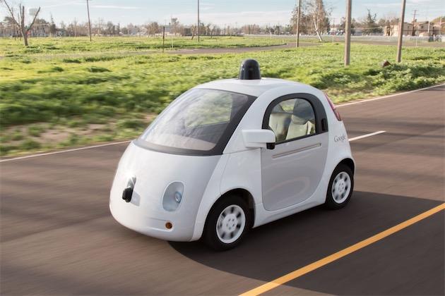 Prototype de Google Car, une petite voiture autonome à partager.