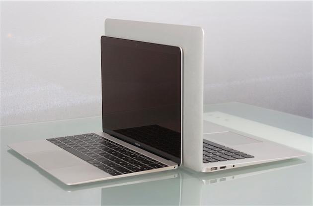 Un MacBook et un MacBook Air13pouces, dos à dos. (Image MacGeneration)