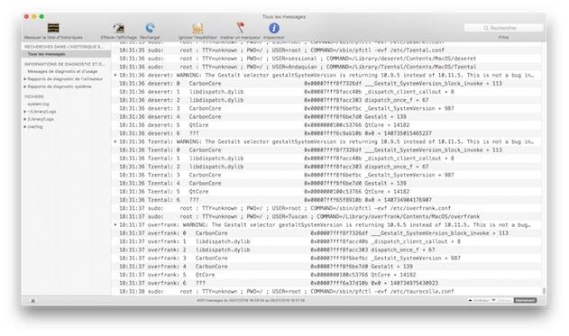 La Console trahit l'activité frénétique du malware, sans que l'on sache exactement ce qu'il fabrique. — Cliquer pour agrandir