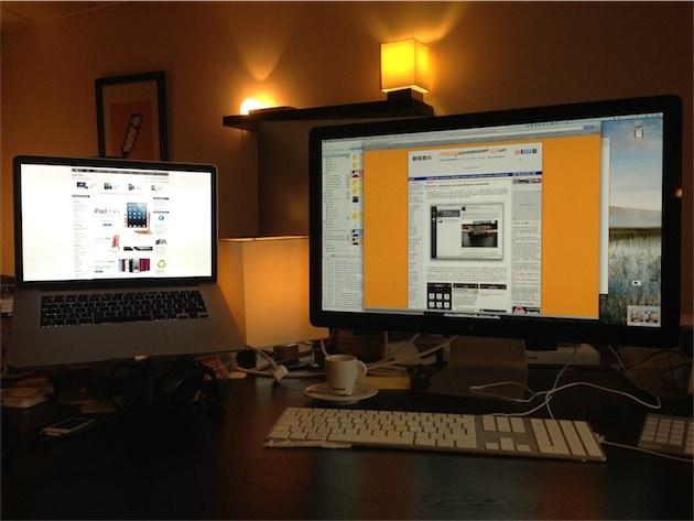 Depuis que je travaille chez MacG, j'ai toujours utilisé un Mac portable et un écran externe.