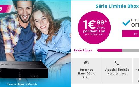 Promo: dernier jour pour la Bbox ADSL à 5€ par mois pendant un an