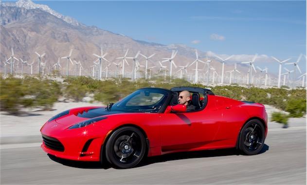 Le Roadster, premier véhicule à porter le sigle Tesla.