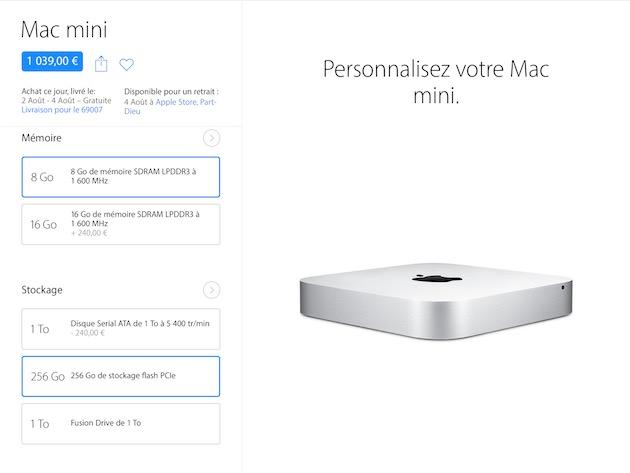 Environ 1000€, c'est le prix d'un Mac mini neuf avec un SSD. C'est aussi le prix que je me suis fixé comme base de travail pour mon hackintosh.