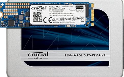 De nouveaux SSD CrucialMX300 de 275 Go à 1To