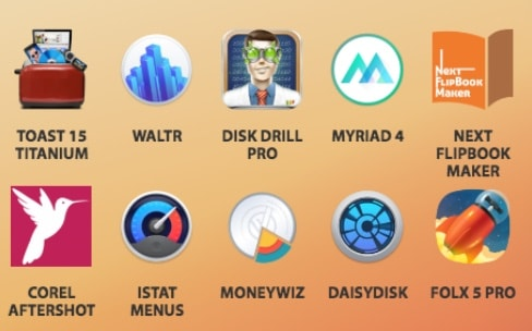 10 apps Mac pour 50$, dont Toast Titanium, iStat Menus et DaisyDisk