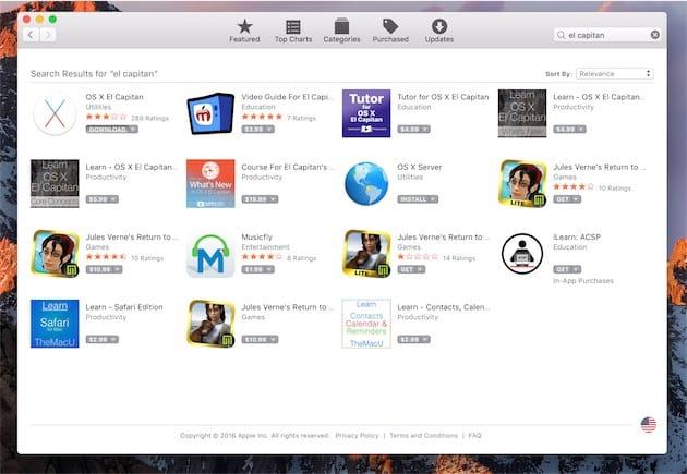 Première étape : téléchargez OS X El Capitan sur le Mac App Store.