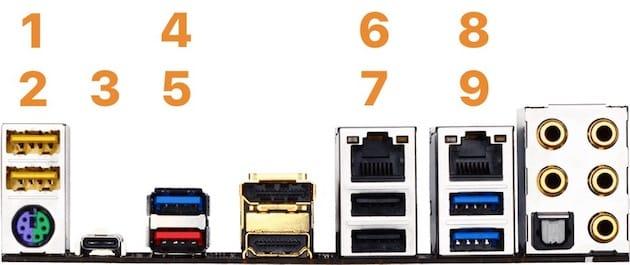 Neuf ports USB physiques au dos de la carte-mère, quatre autres sur le boîtier… mais surtout, les ports USB 3.0 comptent double : on atteint vite la limite de 15 ports !