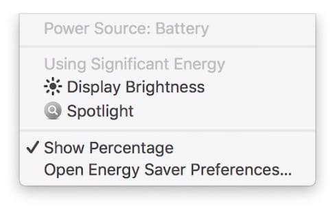 macOS Sierra surveillera aussi la consommation de l'écran