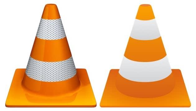 Parmi les nouveautés de VLC3.0, une icône modernisée (à droite). Cliquer pour agrandir