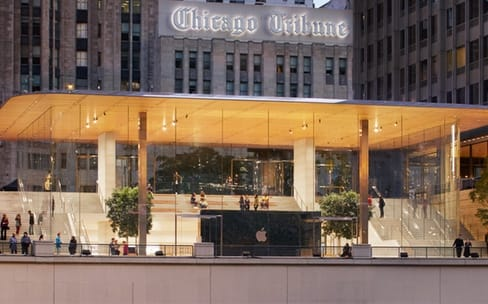 Michigan Avenue: l'impressionnant Apple Store de Chicago ouvre demain