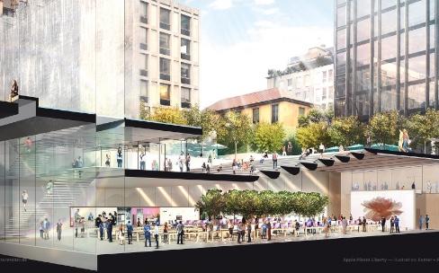 Le futur grand Apple Store de Milan sous tous les angles