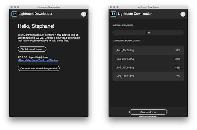 Lightroom Downloader rapatrie toutes vos photos hébergées dans le cloud