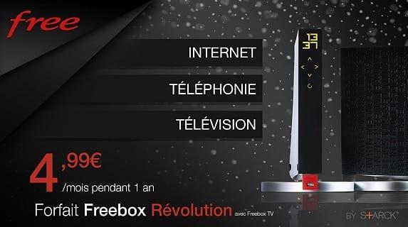 La Freebox Révolution à 4,99 € par mois, une première à ce prix [màj]