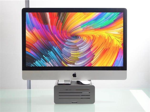 Le support HiRise Pro et un iMac pas pro. Images MacGeneration.