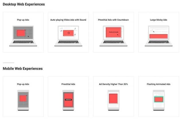 Quelques formats qui devraient être bloqués par Chrome. Cliquer pour agrandir
