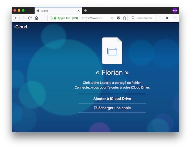 Astuce Partagez Un Fichier Stocke Sur Icloud Drive Macgeneration